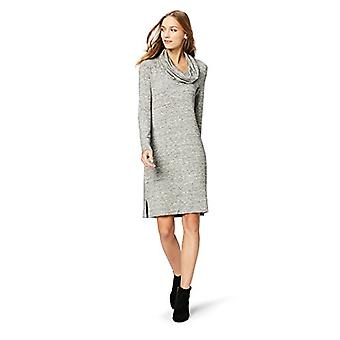 Brand - Daily Ritual Women's Supersoft Terry Long-Sleeve Cowl Neck Dress, Heather Grey Spacedye,Large