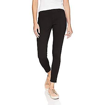"Essentials Mujeres""S Skinny Stretch Pull-On Knit Jegging, Negro, Medio Largo"