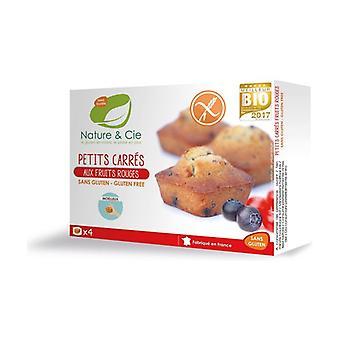 Gluten-free red berries square 160 g