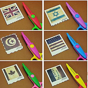 Kids Paper Craft 6 Cutting Patterns Curved Edges Scissors - Diy Decorative
