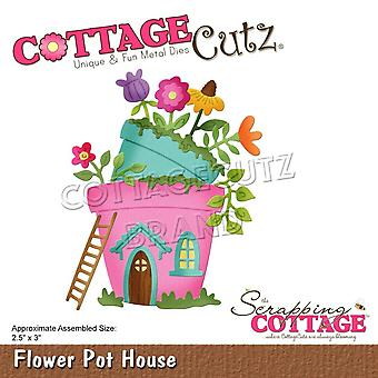 Scrapping Cottage Flower Pot House