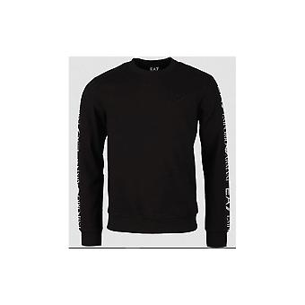 EA7 Emporio Armani Cotton Overhead Black Sweatshirt