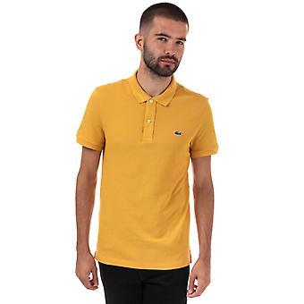 Men's Lacoste Slim Fit Petit Piqué Polo Shirt em Amarelo