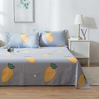 Eco Friendly Printing Flat Bed Sheet, Soft Cotton Right Angle Bed Linen Multi