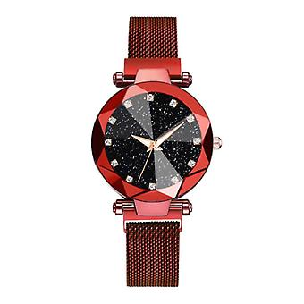 Yuhao Starry Night Watch Ladies - Luxury Anologue Quartz Movement for Women Red