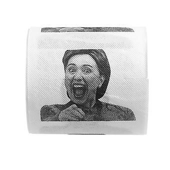 1db Hillary Clinton WC papír papír Roll - Vicces Tréfa Joke Ajándék