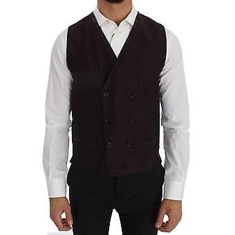 Dolce & Gabbana Purple Wool Blend Formal Vest -- VE10381040