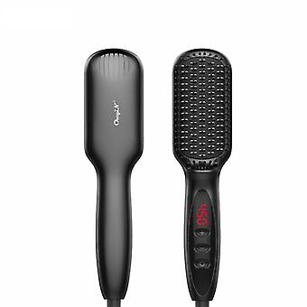 Fast heating hair straightener comb electric hair brush comb