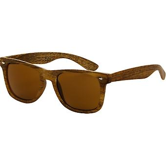 Sunglasses Unisex wooden look light brown (AZB-042 P)