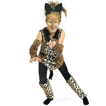 Katze Cats Mädchenkostüm Leo Leopard Wildkatze