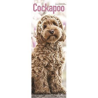 Cockapoo 2021 Slim Calendar by Created by Avonside Publishing Ltd