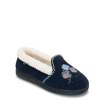 Chums señoras Aplique faux piel de viaje zapatillas Edith