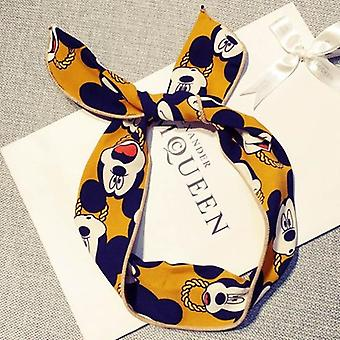 Disney Cotton Headbands - Hair Hoop Stretch Knot Bows