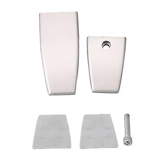 Clip Clamp Holder for Office Screens Glass L Shape Alloy Silver