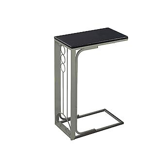 Rectangular Cappucino Top Champagne Metal Accent Table