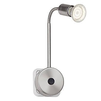 BRILLIANT Lamp Loona LED Plug Spot Iron | 1x LED-PAR51, GU10, 3W LED reflector lamp inbegrepen, 250lm, 3000K | Met Flexarm