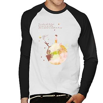 The Little Prince Autumn Colours Heart Quote Men's Baseball Long Sleeved T-Shirt