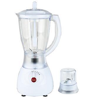 Herzberg HG-5008; Blender, Food Mixer, Smoothie Maker, Plastic Blender, 600W, 1.7L, 2 i 1 hvid