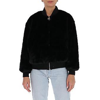 Chiara Ferragni Cfj029blk Femmes-apos;s Black Faux Fur Outerwear Veste