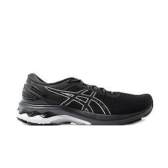 Asics Gel-Kayano 27 Black/Silver Mesh Womens Lace Up Running Trainers