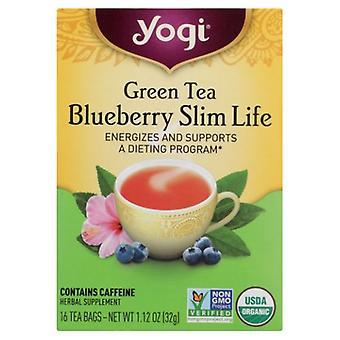 Yogi Grüner Tee Heidelbeere Slim Life, 16 Taschen