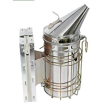 Beekeeping Smoker Stainless Steel Equipment Bee Manual Smoke Maker With Hanging Hook