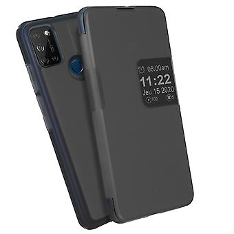 Back cover for Wiko View 5/5 Plus Flip Translucent Touch Smart - Grey