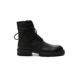 Ann Demeulemeester 20144220375099 Men's Black Leather Ankle Boots
