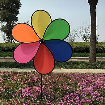 Rainbow, Dazy Flower Design, Wind Spinner, Garden, Outdoor Decor (54*30cm)