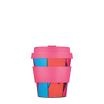 eCoffee Reusable Sustainable Bamboo 4oz Coffee Cups With Silicone Lid & Sleeve
