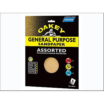 Oakey Glass Paper Sheet Assorted x 5 63642558286