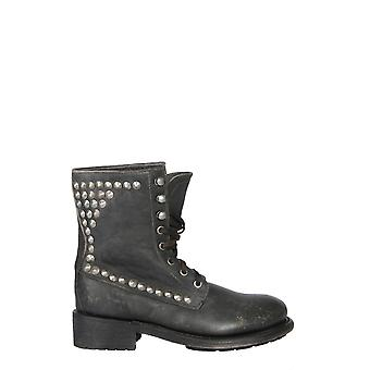Ash Ralph01 Women's Black Leather Ankle Boots