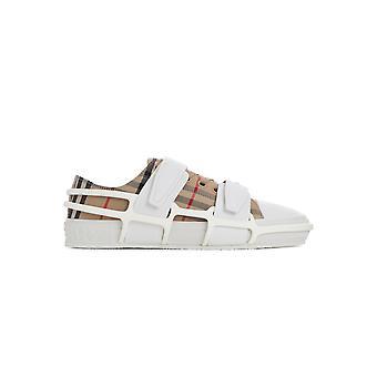 Burberry 8034143 Heren's Beige Cotton Sneakers