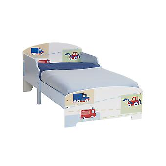 Boys Vehicle Junior MDF Toddler Bed and Fibre Mattress