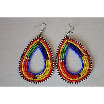 Beads Drop Earrings Handcrafted African Earrings