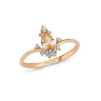 Farbige Stein Gold Ring