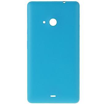 متجمد سطح البلاستيك الغطاء السكني الخلفي لـ مايكروسوفت Lumia 535 (الأزرق)