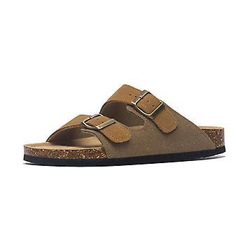 Summer Leather Mule Clogs Slippers, Soft Cork Beach Footwear