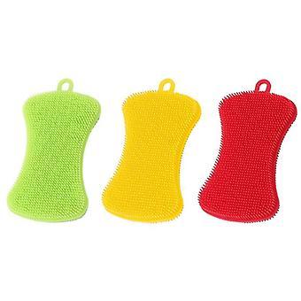 Silicone, Dishwashing Sponge / Scrubber For Pot, Pan, Fruit & Vegetable