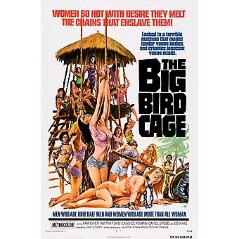 قفص الطيور الكبير لنا ماستيربرينت ملصق الفيلم ملصق عام 1972