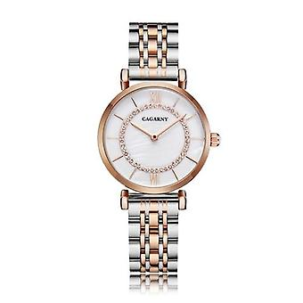 Rustfrit stål armbånd Watch, Kvinder Fashion Quartz Hip Hop Diamonds Ur