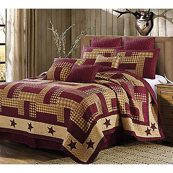Homestead Red Patchwork Quilt Set