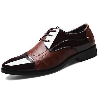 Jesenné Muži Obchodné Svadobné Kancelária Oxford kožené topánky