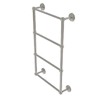 Monte Carlo Collection 4 Tier 30 Inch Ladder Towel Bar With Groovy Detail - Mc-28G-30-Sn