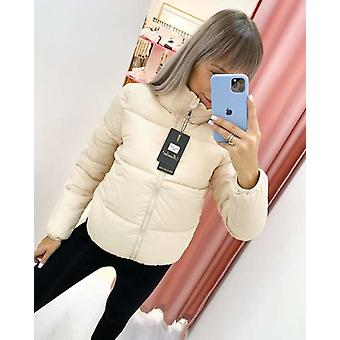 Fashion Solid Standard Collar Oversized Short Jacket For Winter/autumn