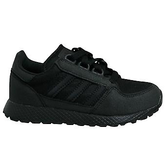 Adidas Originals Forest Grove Black Low Lace Up Casual Kids Trainers G27823