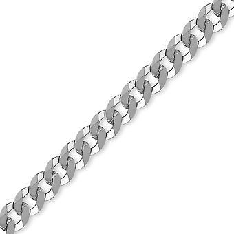 Jewelco London Sterling Silver 8mm gauge trottoar kedja