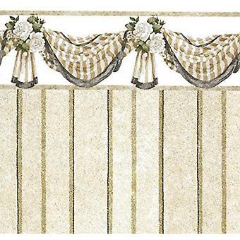 Dolls House Benjamin Swag Beżowy miniaturowy nadruk 1:12 Skala Tapety 3 Arkusze