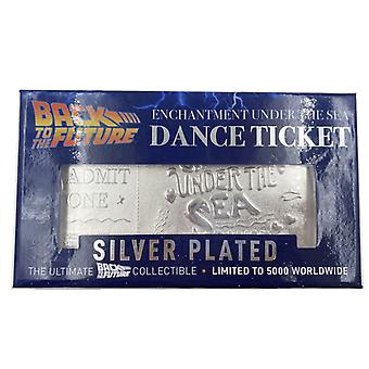 Back To The Future Limited Edition Silver Plated Dance Ticket