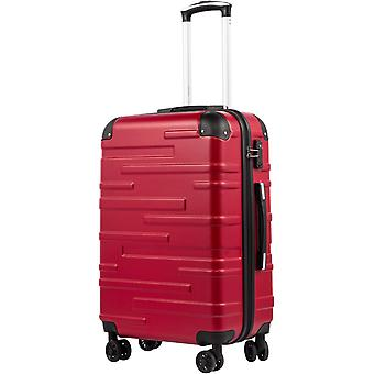 COOLIFE Hard Shell Suitcase with TSA Lock and 4 Spinner Wheels Lightweight